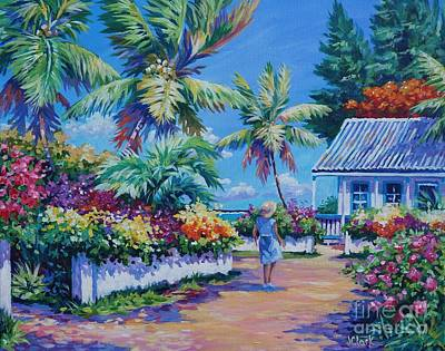 Caribbean Sea Painting - Homeward Bound by John Clark