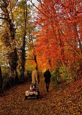 Autumn Scene Photograph - Homeward Bound by Richard Cummings
