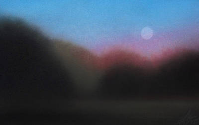 Painting - Homeward By Last Light And Moonrise by Robin Street-Morris