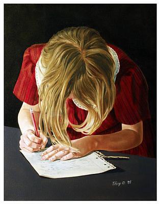 Homework Painting - Homework by Robert Tracy