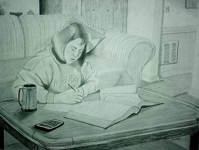 Drawing - Homework by Stacy C Bottoms