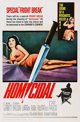 Homicidal, Us Poster, Patricia Breslin Art Print by Everett