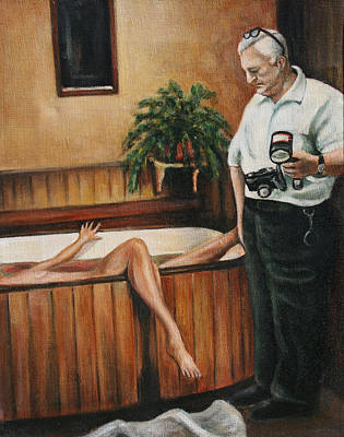 Painting - Homicide Photographer  by Melinda Saminski