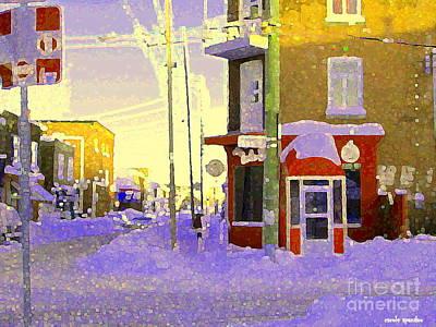 Montreal Painting - Magical Verdun Winter Day Montreal Winter Urban Scenes by Carole Spandau