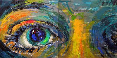 Painting - Homology #16 - Headlines by Alfredo Gonzalez