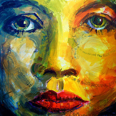 Painting - Homology #5 - Face To Face by Alfredo Gonzalez