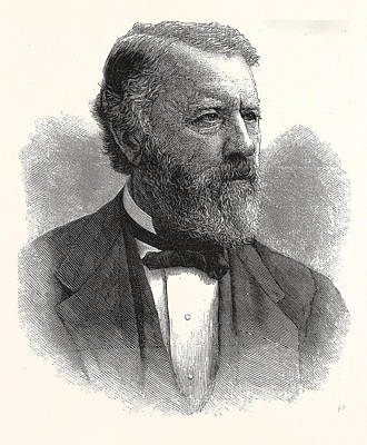 Indiana Images Drawing - Hon. Albert G. Porter, Governor-elect Indiana by American School
