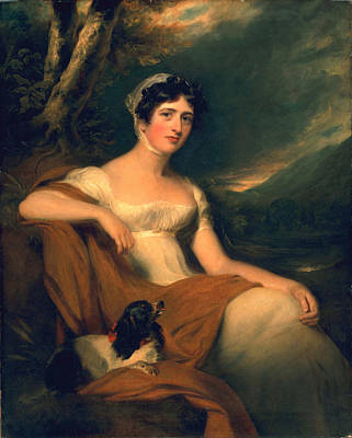 Gown Painting - Hon. Emma Cunliffe, Later Emma by Thomas Lawrence