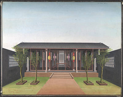 Watercolour Photograph - Honam Temple by British Library