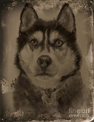 Digital Art - Honorable Husky by Michelle Wolff