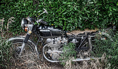 Photograph - Honda 450 Motorcycle by Britt Runyon