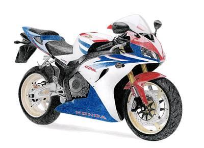 Drawing - Honda Cbr 1000 Rr by Milan Surkala