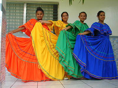 Photograph - Honduran Dancers by Lew Davis