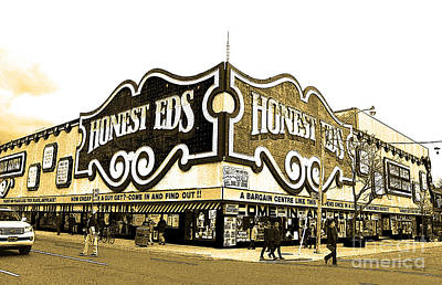 Photograph - Honest Eds In Sepia by Nina Silver