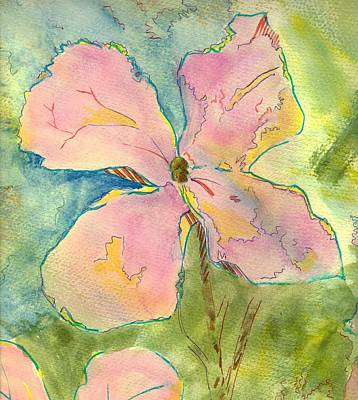Painting - Honesty British Flower Painting by Mike Jory