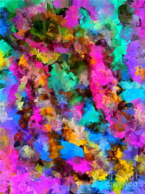 Digital Art - Honey Bee Colorful by Holley Jacobs