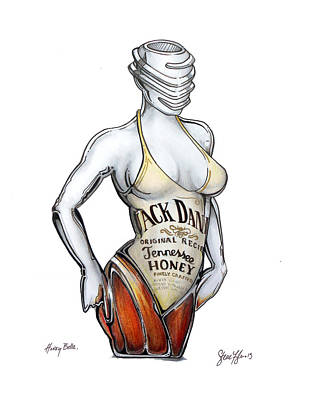 Giclee Drawing - Honey Bella  by Steve Fogle