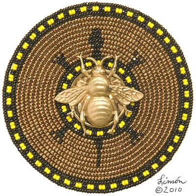 Honey Bee Turtle Art Print