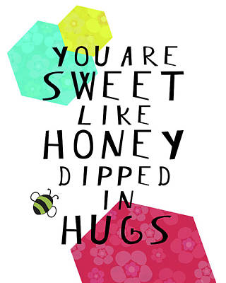 Wall Art - Painting - Honey Dipped In Hugs by Amy Cummings