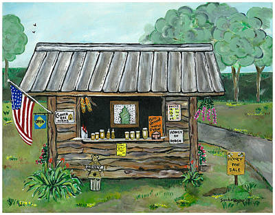 Farm System Painting - Honey For Sale by Sandie Keyser