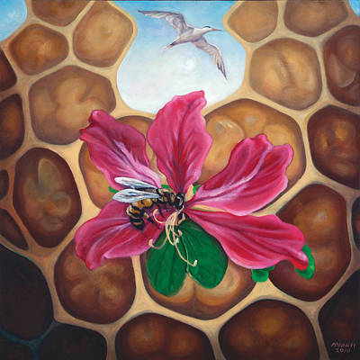 Painting - Honey Maker by Ewan  McAnuff