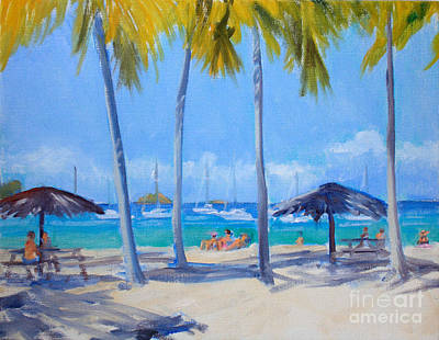 Saba Painting - Honey Moon Beach Day by Candace Lovely