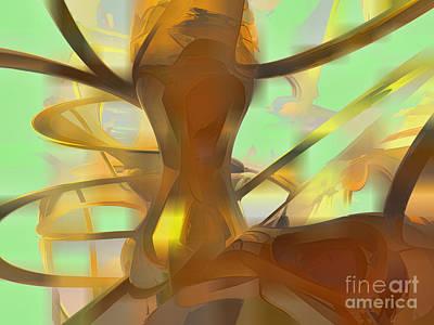 Honey Pastel Abstract Art Print