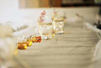 Wedding Favors Photograph - Honey Pots And Mason Jars by Chastity Hoff