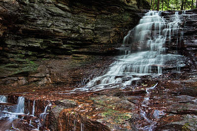 Honey Run Falls Print by Tom Mc Nemar