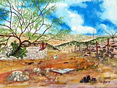 Pear Tree Painting - Texas Southwest Honey Tree by Michael Dillon