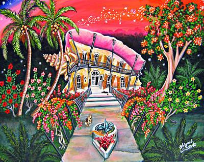 Hemingway House Wall Art - Painting - Honeymoon Hemingway Conch House by Abigail White