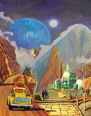 Art Print featuring the painting Honeymoon In Oz by Art West