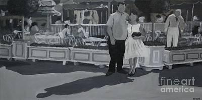 Honeymoon On Main St. Art Print