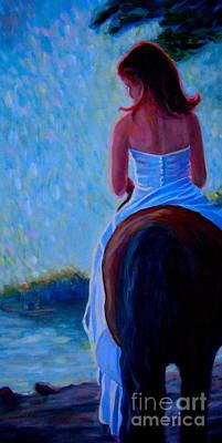 Painting - Honeymoon Ride In Blue by Gretchen Allen