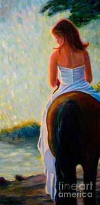 Painting - Honeymoon Ride Satuated by Gretchen Allen
