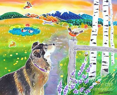 Coyote Art Painting - Honey's World by Harriet Peck Taylor