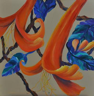 Honeysuckle Painting - Honeysuckle Harmony by Lynn Rattray