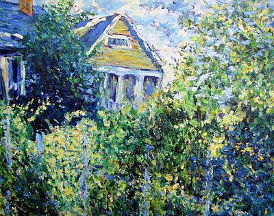 Georgia Painting - Summer Garden, Virginia-highlands by Rob White