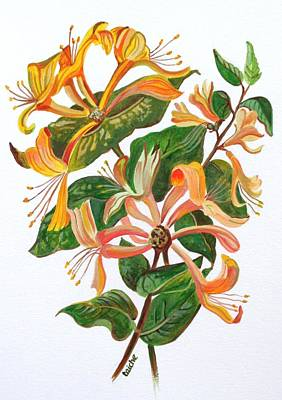 Painting - Honeysuckle by Taiche Acrylic Art