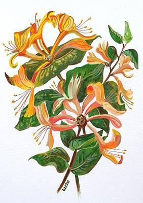 Painting - Honeysuckle by Tracey Harrington-Simpson