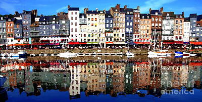 Art Print featuring the photograph Long Horizontal Abstract - Honfleur Artists Village  by Jacqueline M Lewis