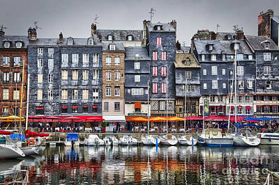 Harbor Scene Wall Art - Photograph - Honfleur by Delphimages Photo Creations