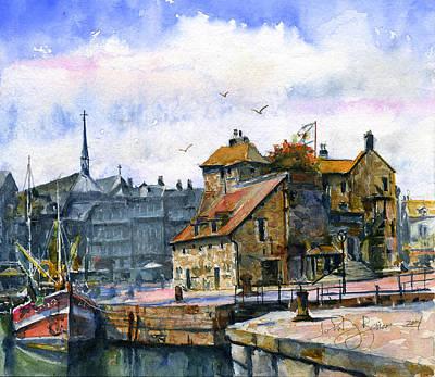 Painting - Honfleur France by John D Benson
