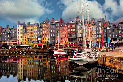 Honfleur Harbor Art Print