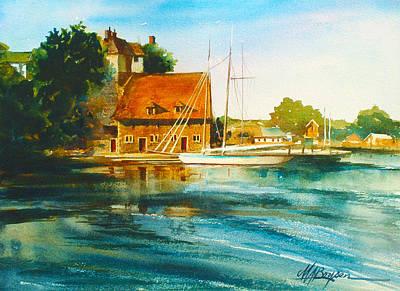 Honfleur Harbor Art Print