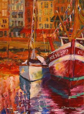 Painting - Honfleur Harbor by Tara Moorman