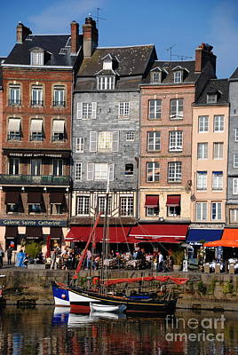 Photograph - Dining Out In Honfleur by Jacqueline M Lewis