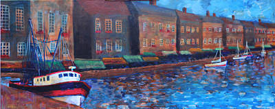 Painting - Honfleur-the Old Port 1 Of 3 by Walter Fahmy