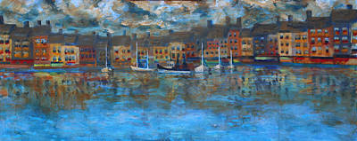 Painting - Honfleur-the Old Port 2 Of 3 by Walter Fahmy