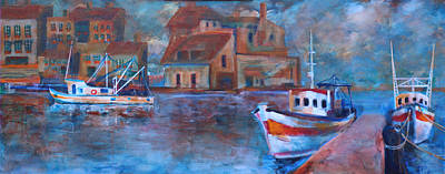 Painting - Honfleur-the Old Port 3 Of 3 by Walter Fahmy